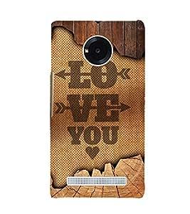 Love You Design 3D Hard Polycarbonate Designer Back Case Cover for YU Yuphoria YU5010