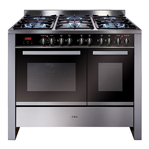 CDA RV1002 100cm Twin Cavity Range Cooker, Electric Ovens with Gas Hob