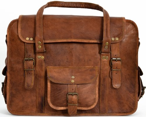 Gusti Leather Genuine Travel Holdall Duffle Weekender Overnight Travel Weekend Carry-On Gym Sport Bag Holiday Luggage Unisex Brown Vintage R40B