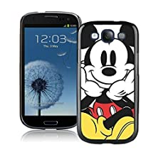 buy Mickey Mouse Black Samsung Galaxy S3 Cellphone Case Lovely And Grace Look