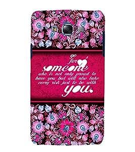 Go For Love Someone 3D Hard Polycarbonate Designer Back Case Cover for Samsung Galaxy J5 (2015) :: Samsung Galaxy J5 J500F (Old Version)