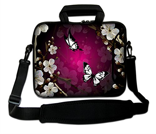 butterful-13-laptop-bag-carry-case-wpocketshoulder-strap-fit-116-125-133-laptop-pc133-hp-pavilion-de