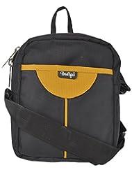 Indigo Nylon 2 Ltrs Black And Yellow Tote Bag