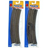 """Ho Scale 18 Inch Radius Curved Track 2 Pack Contains A Total Of 8 Pieces Of 18"""" Radius Curved Rail Joiner Track..."""