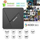 DOLAMEE D5 TV Box Android 5.1 Rockchip RK3229 Quad-core Kodi 16.1 Fully Loaded 1GB RAM 8GB ROM 4K Mini PC Media Player with WIFI HDMI 2.0