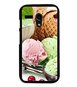 Colourful Ice-cream dollops 2D Hard Polycarbonate Designer Back Case Cover for Motorola Moto G :: Motorola Moto G (1St Gen)