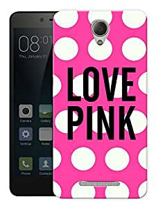 """Love Pink Girly Printed Designer Mobile Back Cover For """"Xiaomi Redmi 3S"""" By Humor Gang (3D, Matte Finish, Premium Quality, Protective Snap On Slim Hard Phone Case, Multi Color)"""