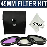 Zeikos ZE-FLK49 49mm Multi-Coated 3 Piece Filter Kit (UV-CPL-FLD)