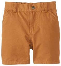 Carhartt Baby Boys\' Washed Dungaree Short, Carhartt Brown, 12 Months