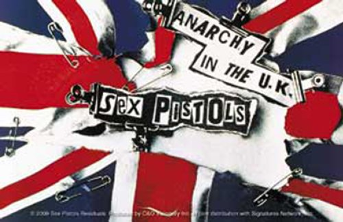 Licenses Products Sex Pistols Ripped Flag Sticker