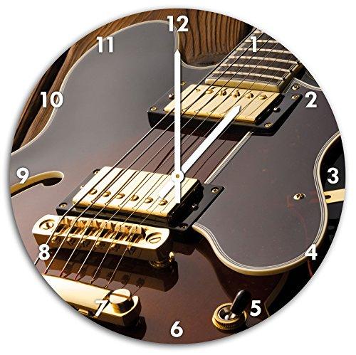Coole-E-Gitarre-Wanduhr-mit-spitzen-Zeigern-und-Ziffernblatt-Dekoartikel-Designuhr-Aluverbund-sehr-schn-fr-Wohnzimmer-Kinderzimmer-Arbeitszimmer