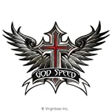 GODSPEED HUGE WINGED CROSS GOD SPEED WINGS CHRISTIAN BIKER MOTORCYCLE LEATHER JACKET VEST EMBROIDERED PATCH