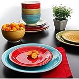 Better Homes and Gardens Festival 12-Piece Dinnerware Set, Assorted,...