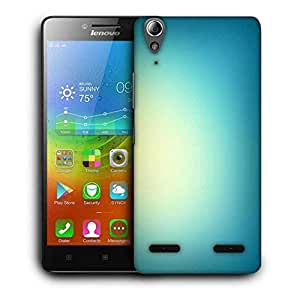 Snoogg Lite Blue Background Printed Protective Phone Back Case Cover For Lenovo A6000