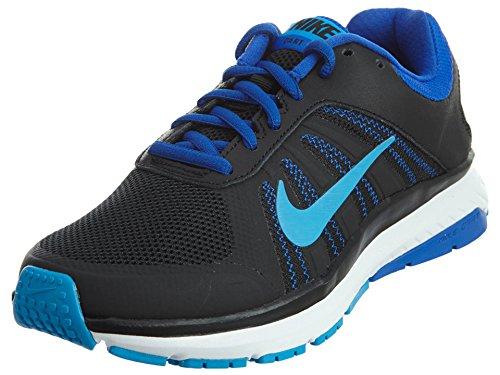 nike-womens-dart-12-black-blue-glow-racer-blue-white-running-shoe-7-women-us