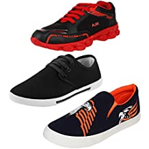 Super Men Canvas Combo Pack Of 3 Sports With Casual Shoes