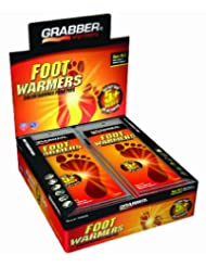 Grabber Warmers 5+ Hour Ultra Thin Foot Warmer Insoles (30 Pair Medium/Large)