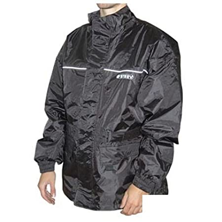 Veste de pluie moto STEEV SHEFFIELD - Textile - Noir