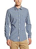 Dockers Camisa Hombre Laundered Poplin (Azul Medio)