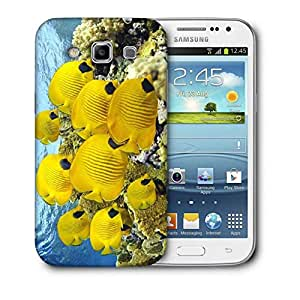 Snoogg Yellow Fish Printed Protective Phone Back Case Cover For Samsung Galaxy Samsung Galaxy Win I8550 / S IIIIII