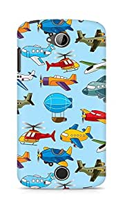 Amez designer printed 3d premium high quality back case cover for Acer Liquid Z530 (Helicopter airship plane texture)