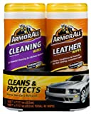 armor all 82646 cleaning and leather wipe 20 25 sheets pack of 2