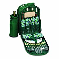 Picnic Time Sorrento Insulated Cooler Backpack with Picnic Service for Four by Picnic Time