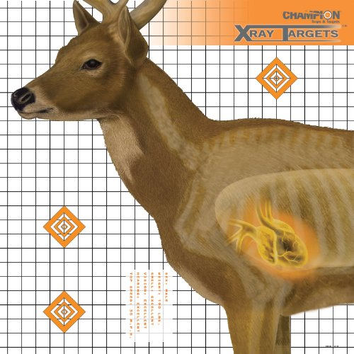 Champion Deer 25x25-Inch Xray Paper Target (Pack of 6) (Professional Archery Targets compare prices)