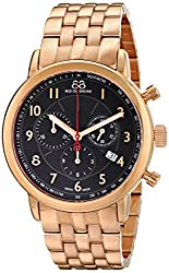 88 Rue du Rhone Mens 87WA120049 Double 8 Analog Display Swiss Quartz Rose Gold Watch