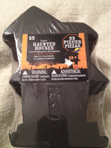 Foam Haunted Houses Craft Kit (35 pieces)
