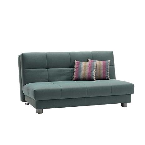 Schlafcouch in Grun Grau Breite 160 cm Sitzplätze 3 Sitzplätze Pharao24
