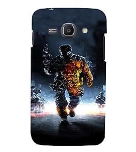 PrintVisa Army Commando Design 3D Hard Polycarbonate Designer Back Case Cover for Samsung Galaxy Ace 3