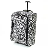 Karabar Super Lightweight Cabin Approved Luggage Bag 55 x 35 x 20 cm, 40 Litres, 1.5 kg, 3 Years Warranty! (1 Piece, Zebra Black)