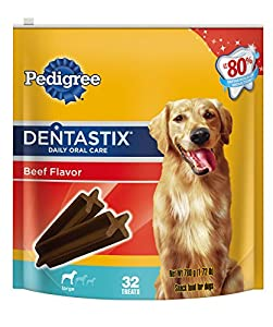 Pedigree Dentastix Beef Pouches, Large, 32 Count