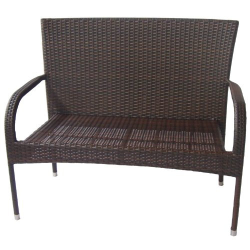 Dunloe Rattan Effect Outdoor Garden Bench