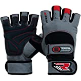 RDX Gym Amara Leather Men's Weight Lifting Gloves Cross Training Bodybuilding Fitness Workout