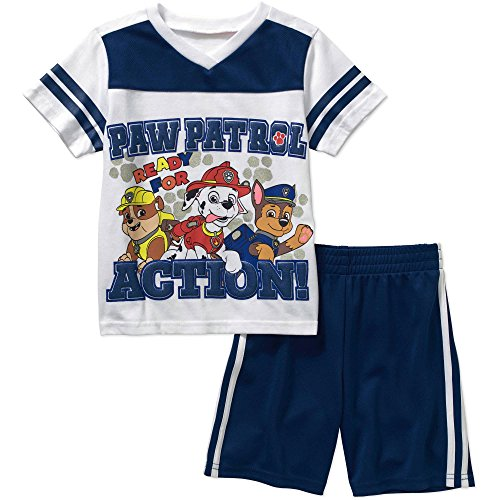 Paw Patrol Short Sleeve Tee Shirt Shorts Outfit Set Little Boys' 3T