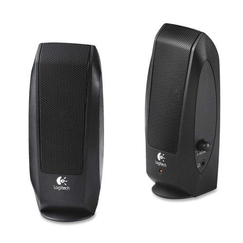 Logitech, Inc Speaker System, W/ Headphone Jack, Black