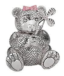 Reed & Barton Silver Plate Girl Bear Bank