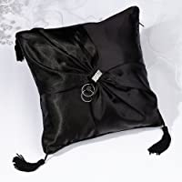 Lillian Rose-Black Sash Ring Pillow