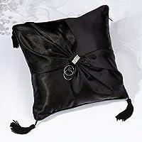 Lillian Rose-Black Sash Ring Pillow
