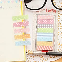ADB Inc Cute Kawaii 160 Pages Sticker Post It Bookmark Point It Marker Memo Flags Sticky Notes Scrapbooking Sticker Paper