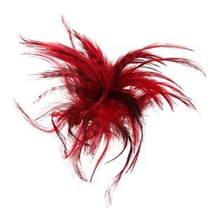 Feder Brosche Haarklammer Haarspange Haarclips Nadel TOP Rot