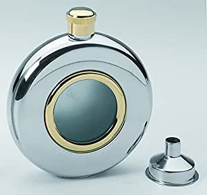 Round 5oz Hip Flask with Window Funnel