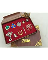 The Legend of Zelda Triforce Hylian Shield & Master Sword Keychain/necklace/ornament Collection