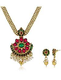 Ava Jewellery Set For Women (Gold) (S-O-NL5005)