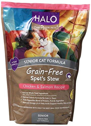 Halo Spot's Stew Cat Grain Free Senior Chicken & Salmon