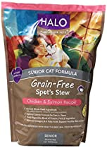 Halo Spot's Stew Grain Free Senior Chicken and Salmon Cat Food, 6-Pound