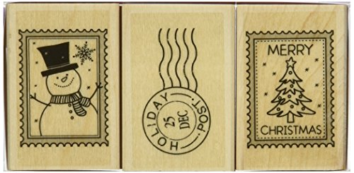Hero Arts Mounted Rubber Stamp Set, 2 by 1.5-Inch, Christmas Post - 1