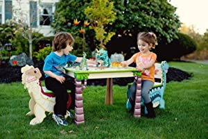 Teamson Kids Table and Chairs Set - Dinosaur Kingdom Room Collection by Teamson